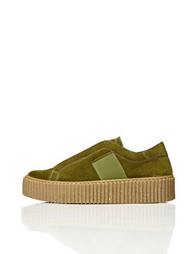Green Plataforma Find Zapatillas Verde Mujer con EfXqf