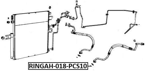 Seal O-Ring A//C Line Pcs 10 Febest RINGAH-018-PCS10 Oem 68086127AA