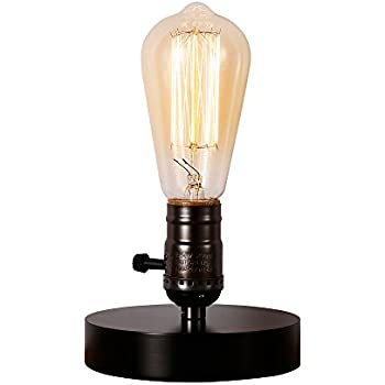 Injuicy Lighting Industrial Vintage Edison Wooden Ceramics Base