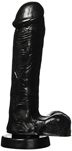 Cloud-9-Delightful-Dong-Dildo-8-Extra-Thick-With-Realistic-Balls-and-Suction-Cup-black-Black-110-Pound