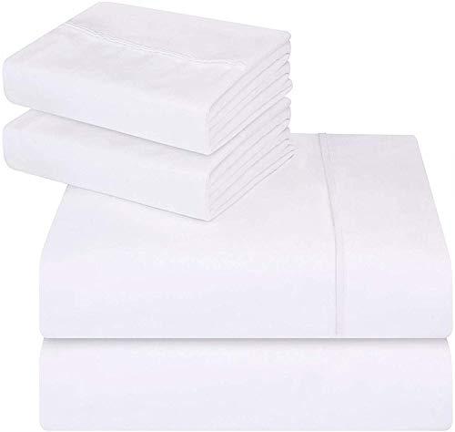 Utopia Bedding - Juego de cama de - Suave y resistente a las manchas. (Cama 150, Blanco)