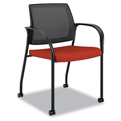 Hon   Ignition Series Seating Mesh Back Mobile Stacking Chair Poppy Fabric  Upholstery U0026quot;Product