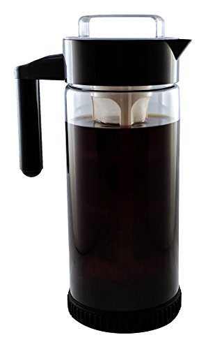 "3 in 1 Cold Brew Iced Coffee Maker with Non-Put in Base | Iced Tea Maker | Fruit Infusion Pitcher | ""A"" FakeSpot Rating 