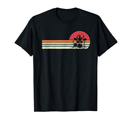 Drummer Shirt. Retro Style Drum Player T-Shirt