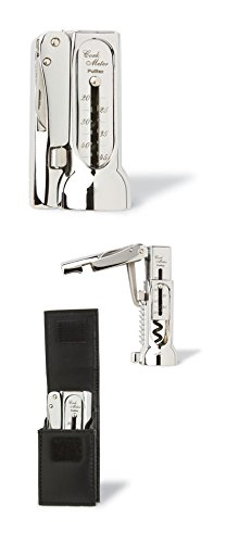 Brucart Compact Chrome-Plated Corkscrew Deluxe Pack with Pouch by Pulltex