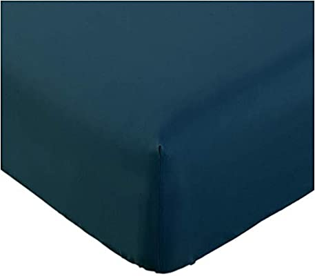 Amazon.com: Mellanni Fitted Sheet TwinXL Royal Blue Brushed