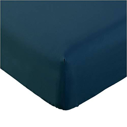 Mellanni Fitted Sheet Queen Royal-Blue Brushed Microfiber 1800 Bedding - Wrinkle, Fade, Stain Resistant - Hypoallergenic - (Queen, Royal Blue)