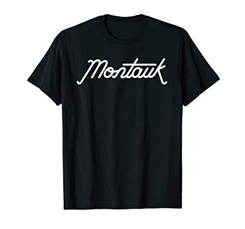 (Montauk Long Island New York Retro 1950s Type Graphic T-Shirt)