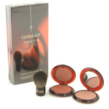 Guerlain Terracotta Miniature Bronzing Set: 2x Bronzing Powder, 1x Mini Kabuki Brush - 3pcs