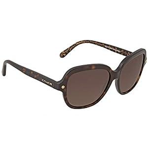 COACH 0HC8192 56mm Dark Tortoise/Brown Gradient Polarized Fashion Sunglasses