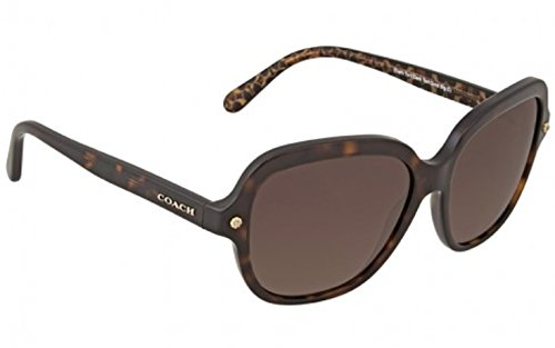 COACH 0HC8192 56mm Dark Tortoise/Brown Gradient Polarized Fashion - Prescription Sunglasses Coach