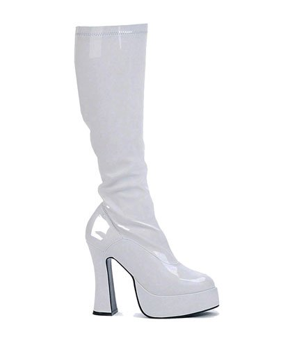 Ellie Shoes Women's Chacha Boot, White, 8 M (Ellie Up Halloween Costume)
