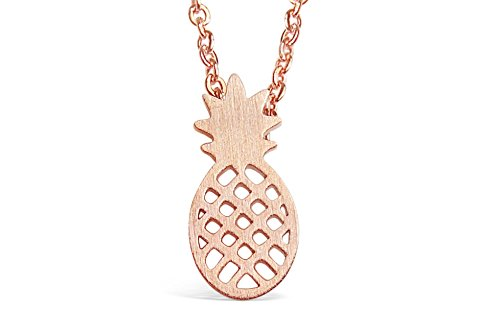 - Rosa Vila Pineapple Necklace, Tiny Pineapple Jewelry for Women, Symbolizes Friendship and Generosity, Pineapple Things for Girls, Tropical Jewelry Gift, Pineapple Gifts for Women (Rose Gold Tone)