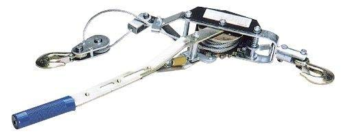 Performance Tool W4000DB Power Puller - Winch, Aircraft Cable and Automatic Notch, 2 Tons x 12' x 5 mm