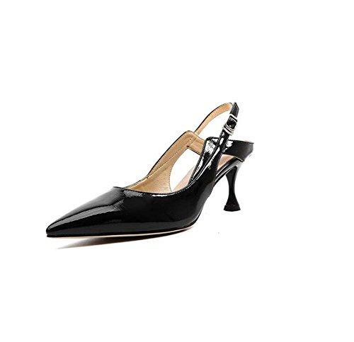 New Summer Hollow Profundos Con Alto Sandalias Mix Negro Fine Tacón Poco De Mujer Zapatos pTtqxwpU1