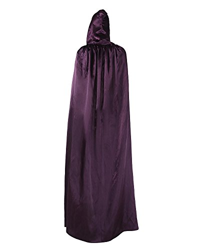 niceEshop(TM) Adult Halloween Death Costume Cloak Wizard Robes, Sorcerer Robes, Mage Robes (Adult Purple Hooded Robe Costume)