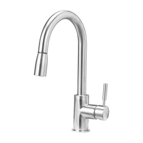 Blanco Sonoma 441647 Pull Down Sprayer - Single Handle Kitchen Sink Faucet, Stainless Steel, Small,