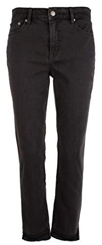 (LAUREN RALPH LAUREN Women's Petite Regal Straight Ankle Jeans-BLK-10P Black)