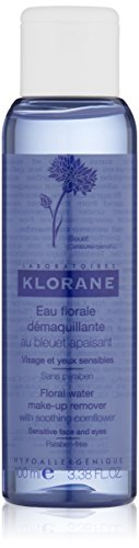 Klorane Make-Up Remover Water with Soothing Cornflower, 3.38 Fl Oz (Cornflower Water)