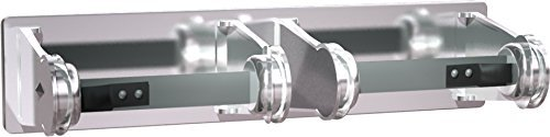 ASI 0715 Double Surface Mounted Toilet Tissue Holder, Chrome-Plated Steel by ASI