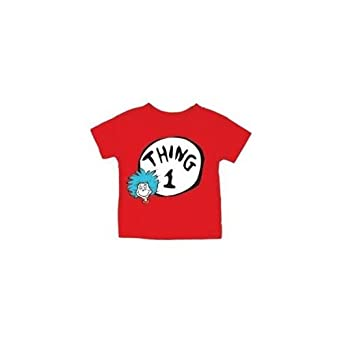 15623344c8e Image Unavailable. Image not available for. Color  Bumkins Dr. Seuss Thing 1  2 Toddler Tee Shirt ...