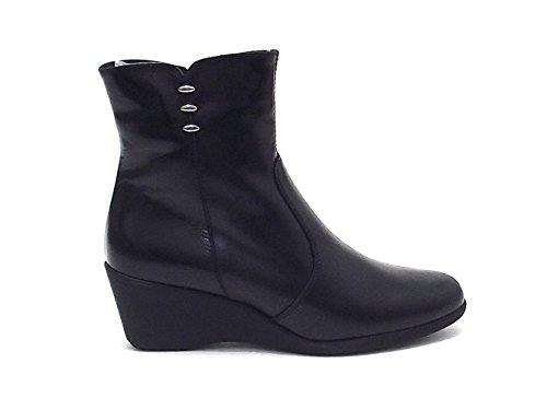 Susimoda scarpe donna, 8538/55, tronchetto Susimoda in pelle, colore nero