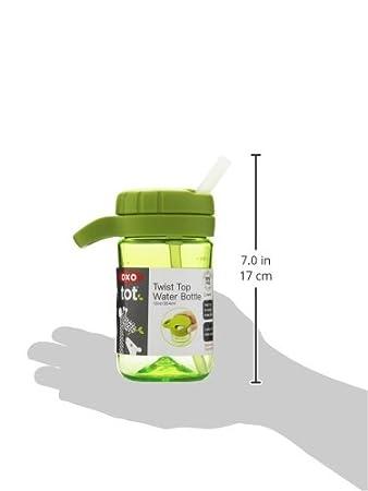 Botella de agua con tapa desenroscable color verde OXO Tot