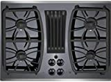 GE Profile Gas Downdraft Cooktop PGP9830SJSS Black Glass w/ Stainless Steel Trim