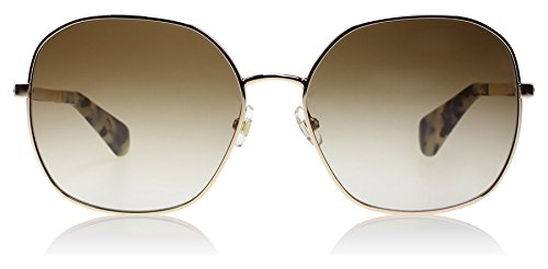 Kate Spade Carlisa/S 03YGB1 Light Gold CARLISA/S Butterfly Sunglasses Lens Cate