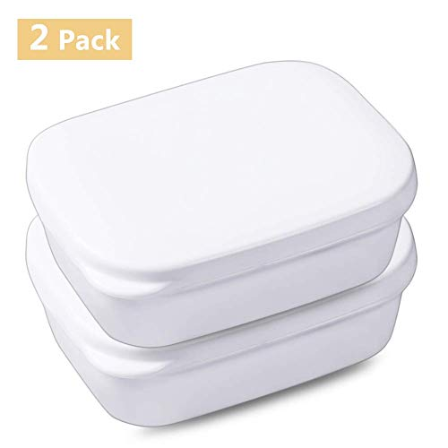 Portable Soap Case, 2packs Soap Box Case Holder for Travel Bathroom Shower, Soap Dish with Strong Sealing Waterproof Lid, Soap Saver Container for Home Hiking, Soap Rack Keep Soap Dry