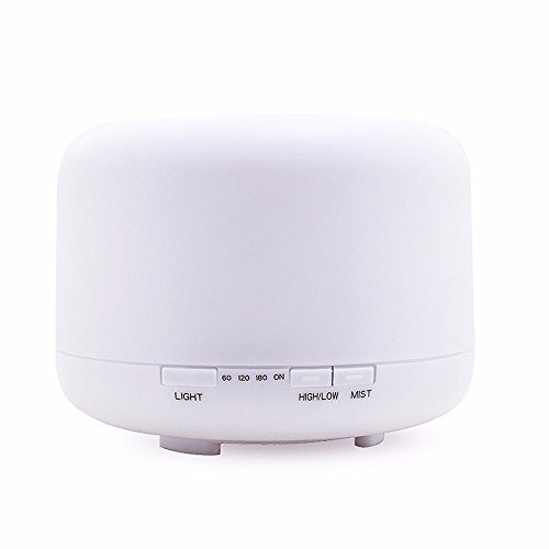 Ultrasound Atomization Humidifier Colorful Gradient Light (White) - 6