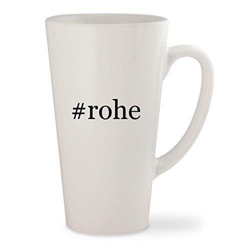#rohe - White Hashtag 17oz Ceramic Latte Mug Cup