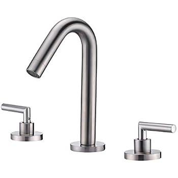Widespread bathroom faucet brushed nickel 8 inch vanity - 8 inch brushed nickel bathroom faucet ...