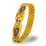 PNY 8GB Attaché Flash Drive Bracelet with 2 Interchangeable Designs (Yellow)