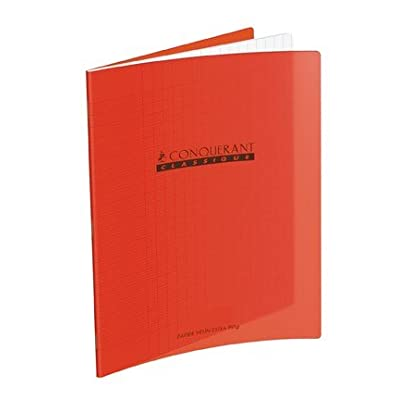1 Cahier 17x22 - 60 pages - Séyès - Polypro rouge