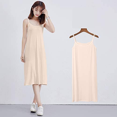 CHuangQi Vestidos de Verano sin Mangas, camisón de algodón para ...
