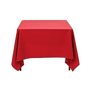 Amazon.com: LinenTablecloth Square Cotton Feel Tablecloth ...