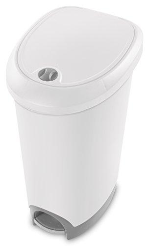 Sterilite 10738002 Locking Wastebasket Titanium