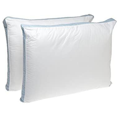 Perfect Fit Firm Density King Size 233 Thread-Count Quilted Sidewall Pillow 2 Pack, White