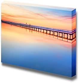 Long Bridge Under The Sky with Magnificent Colours Wall Decor