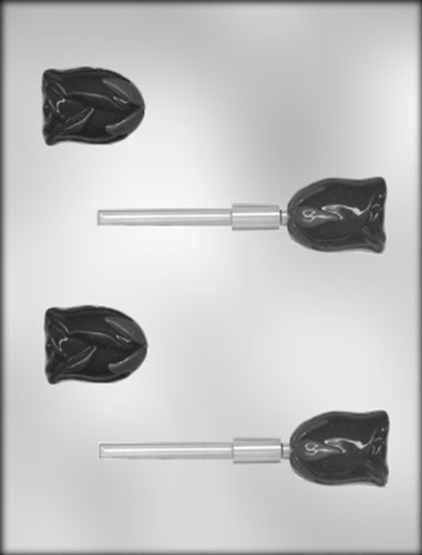 CK Products 1-3/4-Inch 3-D Long-Stemmed Rose Sucker Chocolate Mold