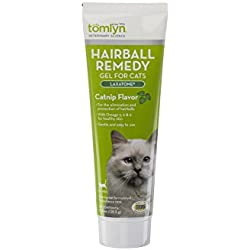Tomlyn Hairball Remedy Gel for Cats, Catnip Flavor, (Laxatone) 4.25 oz