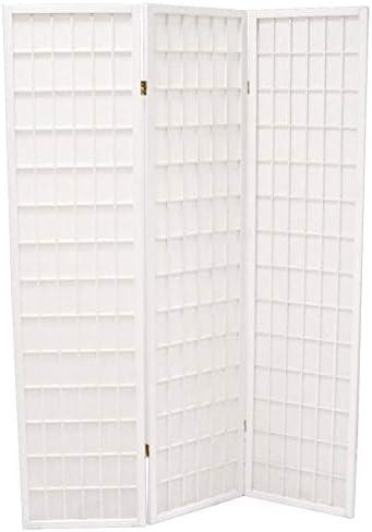 Savino Fiorenzo - Biombo separador de 3 puertas para vestidor, de madera blanca y papel de arroz, para interior y exterior: Amazon.es: Hogar