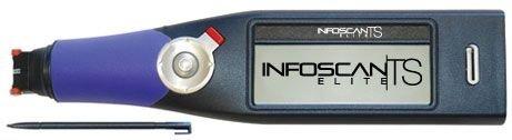 Wizcom InfoScan TS Elite Mobile Pen Scanner - Touch Screen, 500 Page Storage, USB, Purple/Gray
