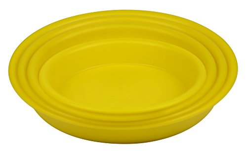 9.4'' Round Plant Saucer Planter Tray Pat Pallet for Flowerpot,Yellow,600 Count by Zhanwang