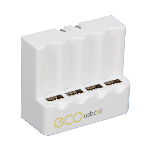 Pilot Automotive CA-9930 Wall Charger for USB Rechargeable Battery, 4 Pack (USBCell ECO)