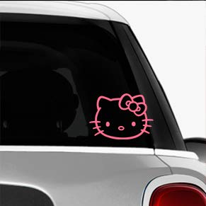 Hello Kitty Pink SK8//Surf//Snow//Water//Bike//Brands Automotive Decal//Bumper Sticker