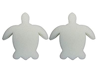 2 PACK - Turtle Oil Absorbing Sponge - for Swimming Pools Hot Tubs & Spas - Absorbs Oil Slime Grime and Scum