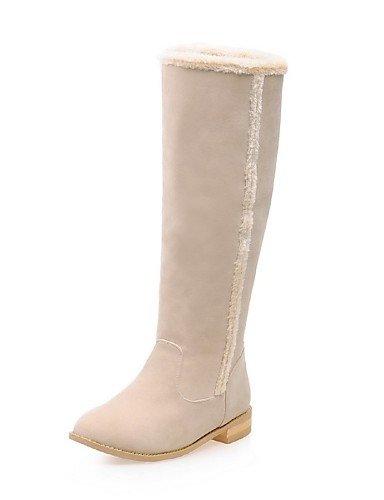 XZZ  Damenschuhe - Stiefel - Kleid   Lässig - Vlies - Blockabsatz - Rundeschuh   Modische Stiefel - Gelb   Grau   Beige B01L1GRANQ Sport- & Outdoorschuhe Professionelles Design
