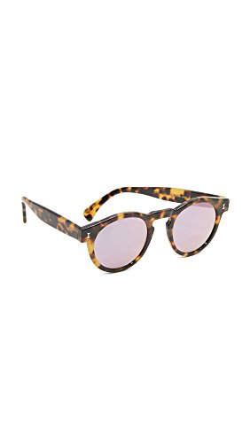 Illesteva Women's Leonard Mirrored Sunglasses, Tortoise/Rose Gold, One - Leonard Illesteva Sunglasses